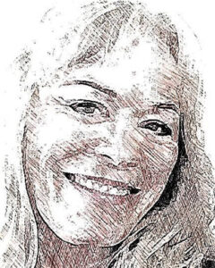 sketch of writer Jan B. Parker